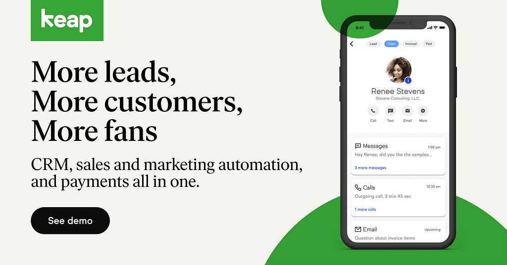 Keap - More Leads More Customers More Fans