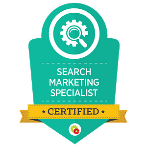 Digital Marketer Certified Search Marketing Specialist Badge